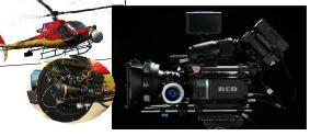 "The CoOpFilm RED ONE Camera used in the Canary Islands for the helicopter shooting of WB ""Clash of the Titans"""
